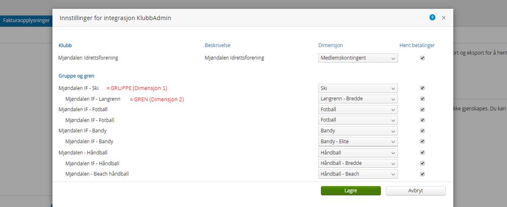 Innstillinger for integrasjon KlubbAdmin_1.2.png
