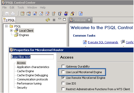 PSQL client - disable Local Microkernel Engine.PNG